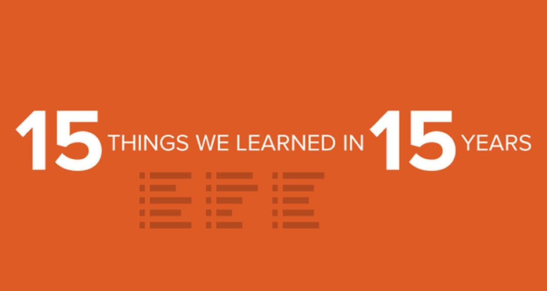 15 Things We've Learned in 15 Years