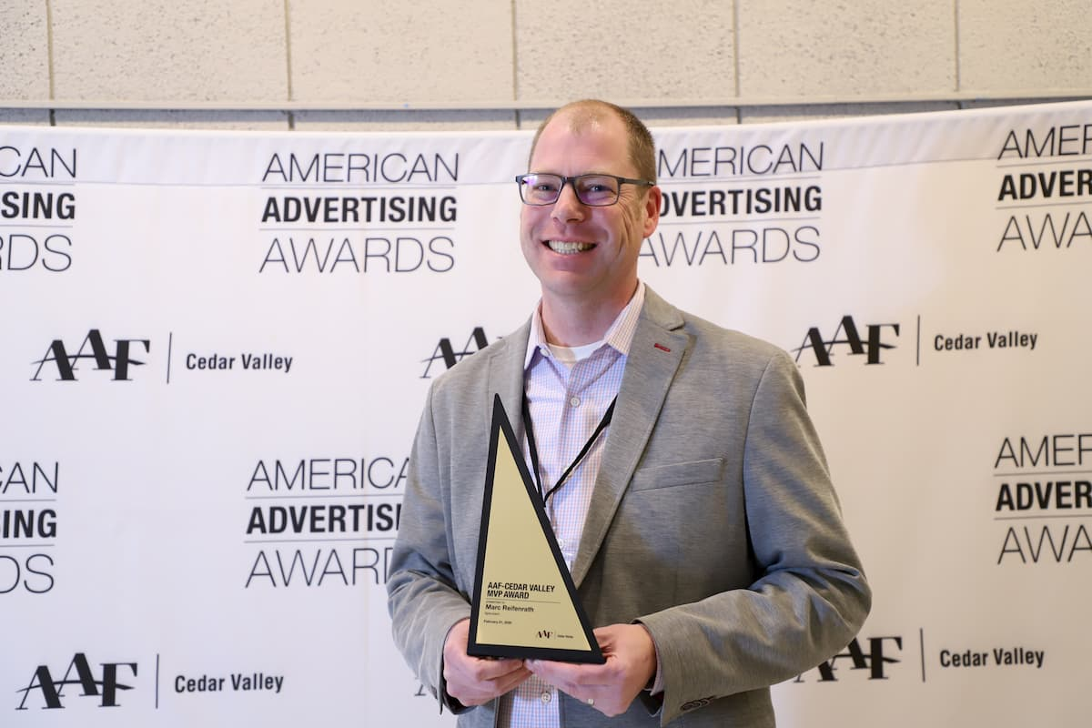 Cedar Valley AAF Presents Spinutech President with MVP Award