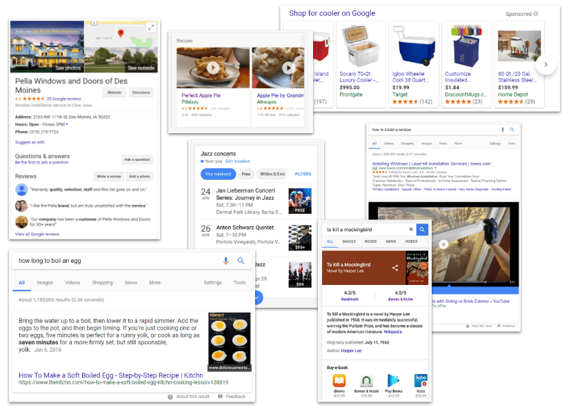 search results examples