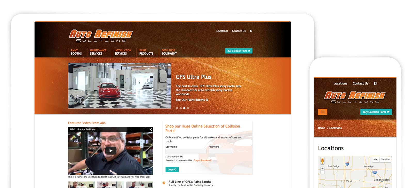 Auto Refinish Website Design