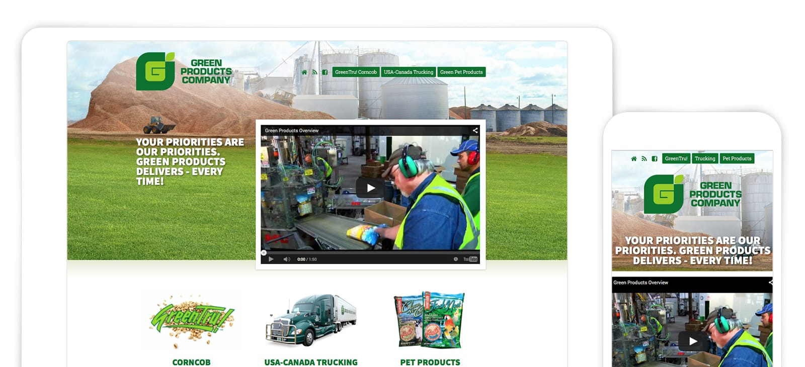 Green Products Website Design