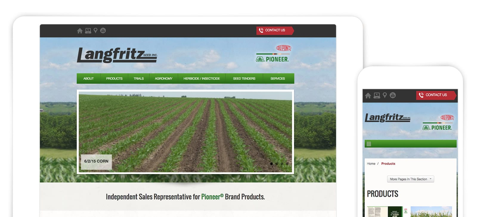 New Website for Langfritz Seed