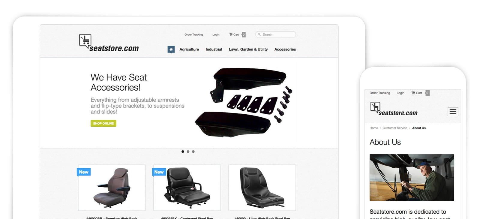 Seatstore Website Design