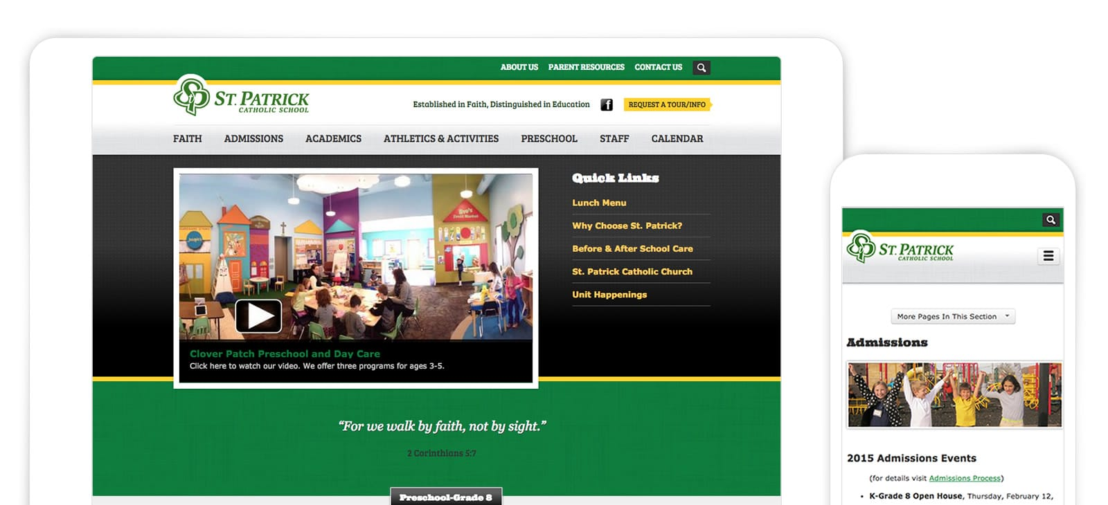 St. Patrick School District Website Design
