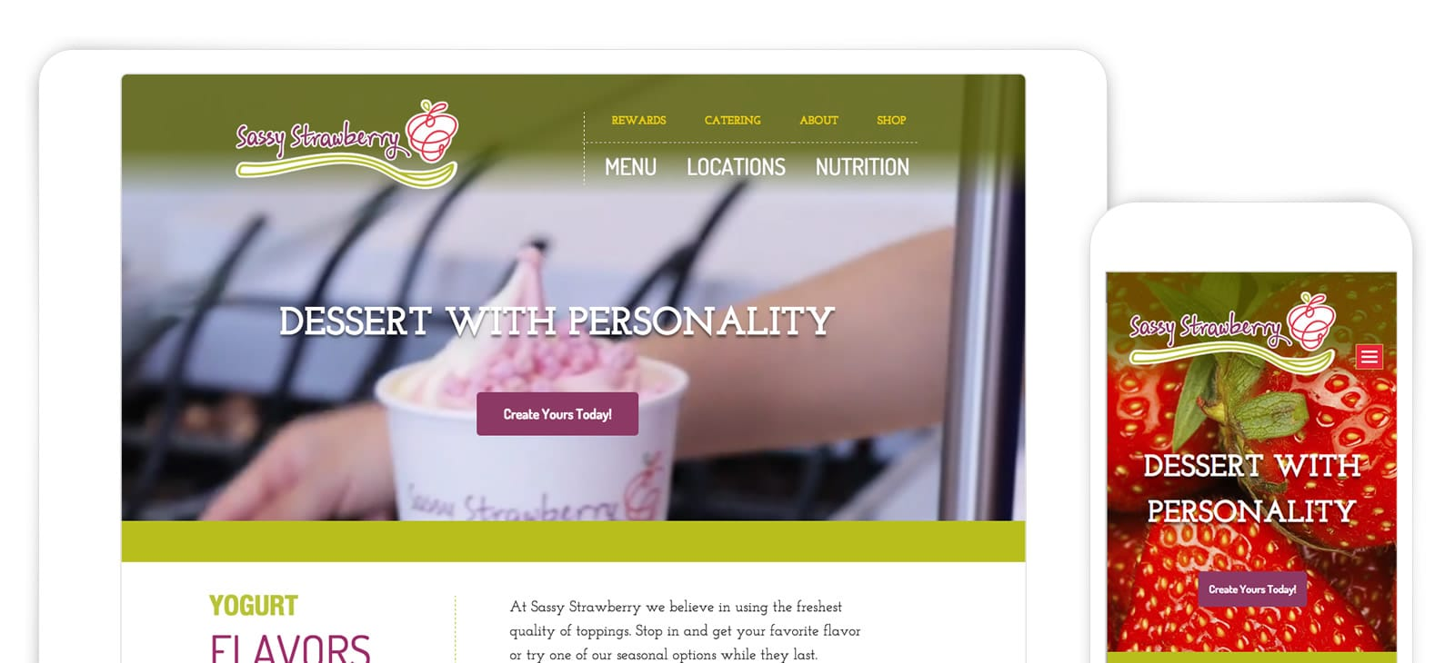 Sassy Strawberry Web Design